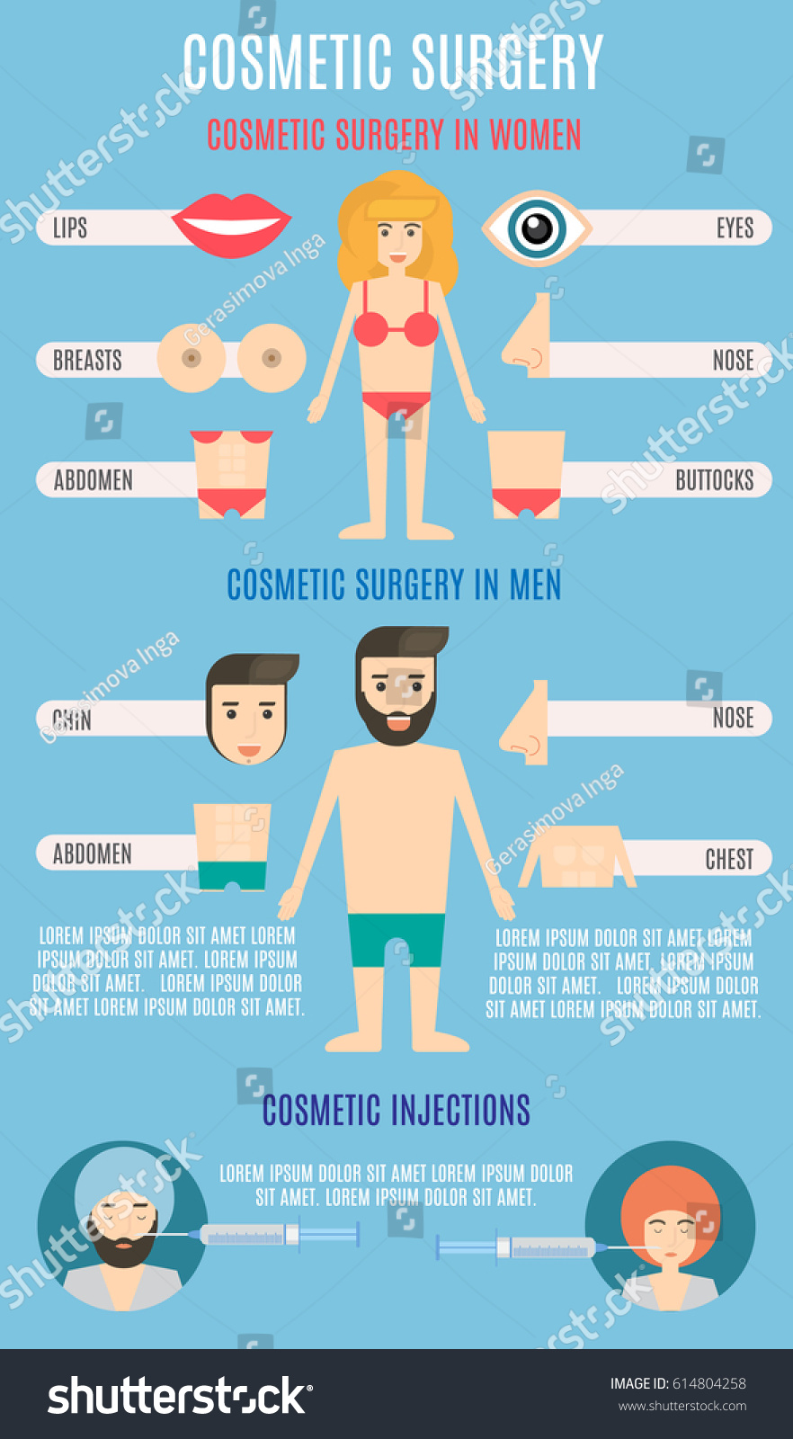 stock-vector-cosmetic-surgery-infographi