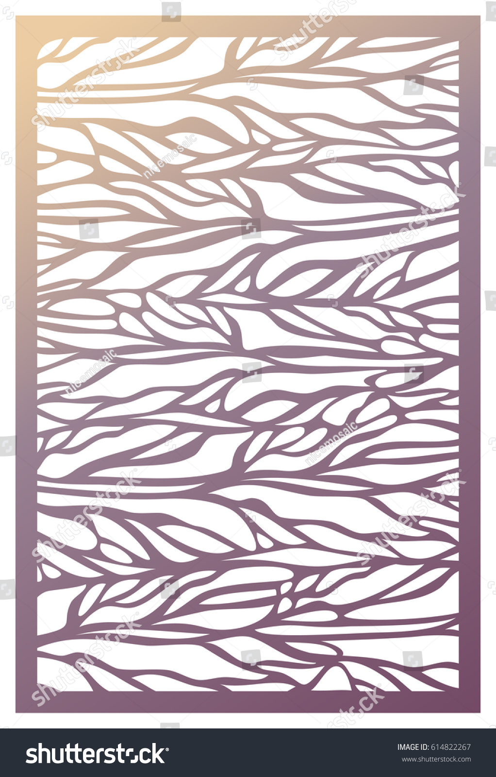 Vector laser cut panel pattern template stock vector 614822267 vector laser cut panel pattern template for decorative panel wall vinyl art decor amipublicfo Choice Image