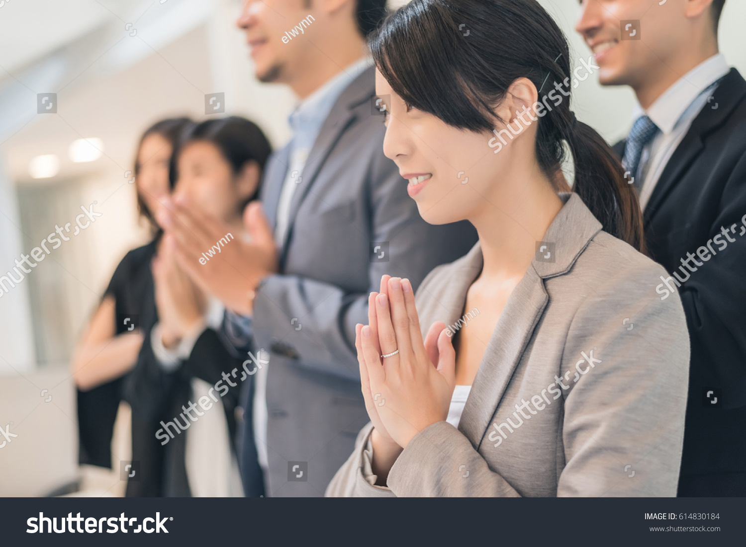 Business People Thai Greeting Office Stock Photo Edit Now