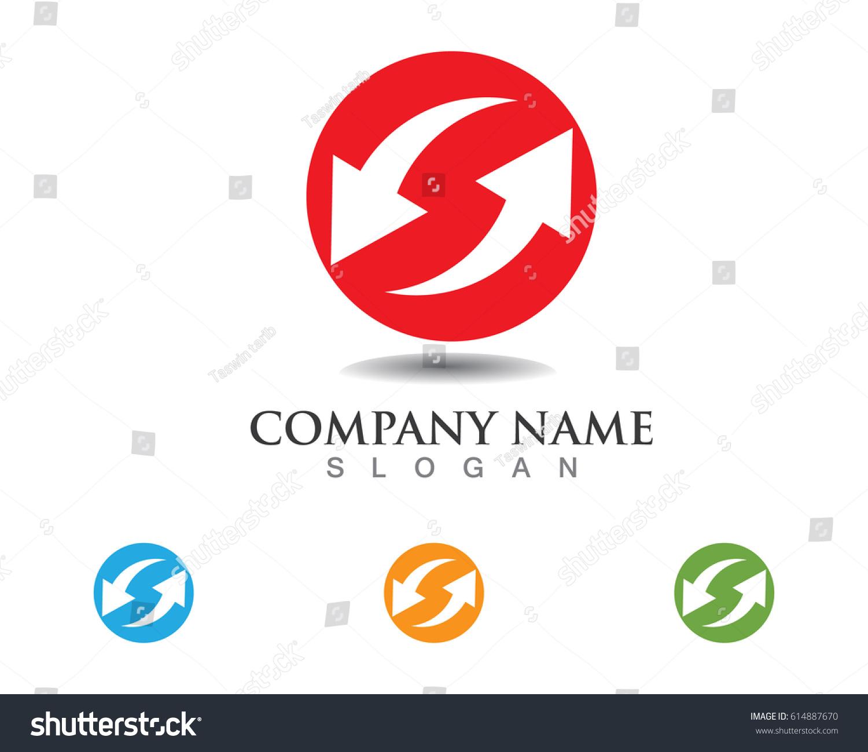 Data Ups Downs Symbols Logo Stock Vector 614887670 Shutterstock