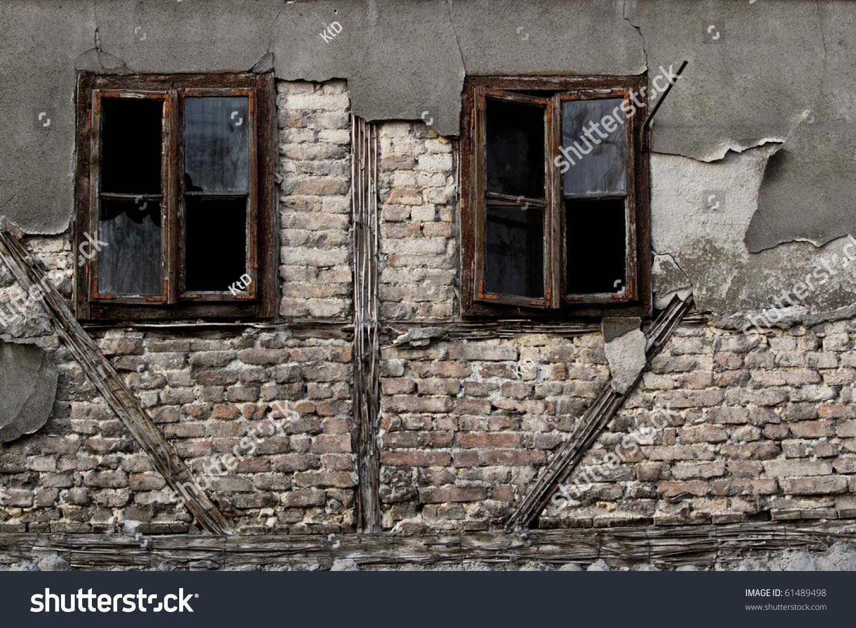 Old Windows Old Windows On Ruin House Stock Photo 61489498 Shutterstock
