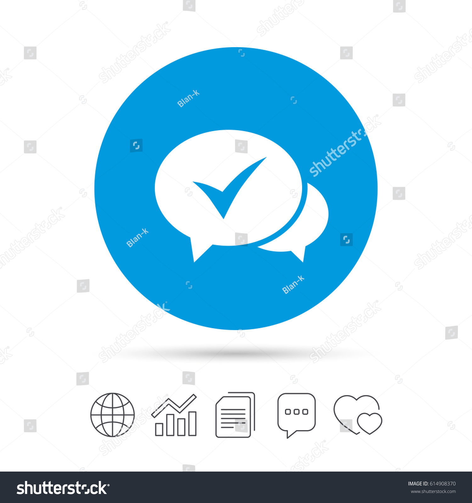 Check Sign Icon Yes Tick Symbol Stock Vector Royalty Free