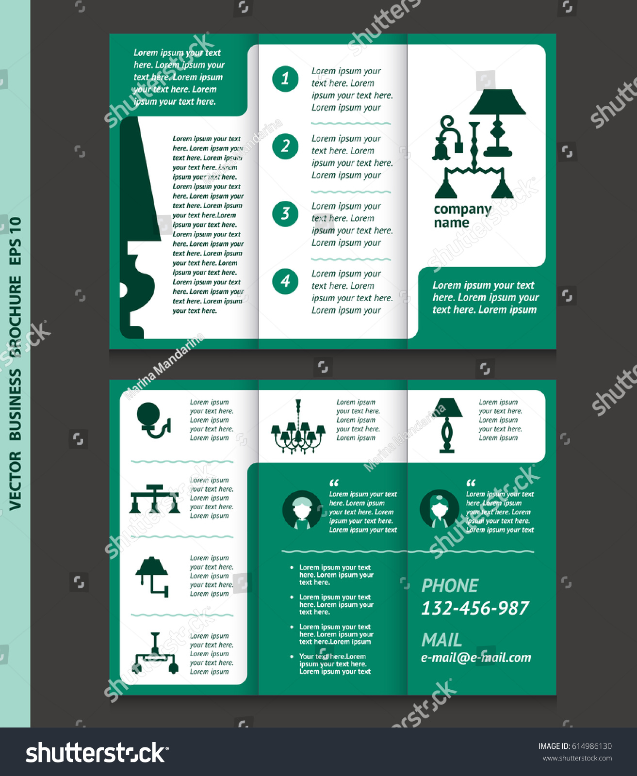 Business brochure template lamps chandeliers vector stock vector business brochure template with lamps and chandeliers vector design eps 10 can be arubaitofo Choice Image