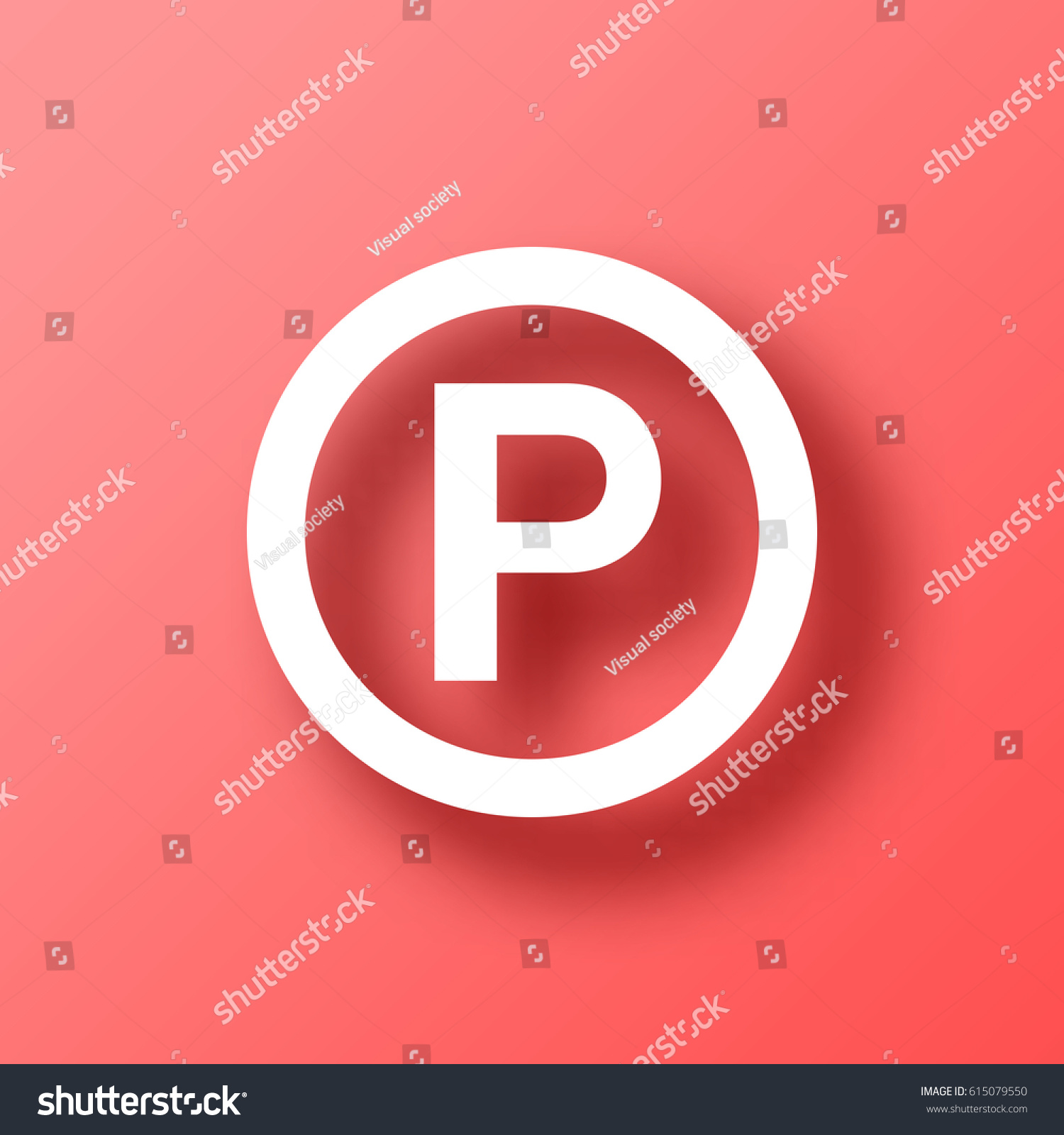 P sound recording copyright symbol on stock vector 615079550 p sound recording copyright symbol on red background with shadow vector illustration easy biocorpaavc