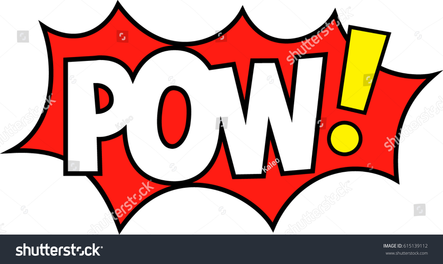 POW Expression Party Props Marriage Bachelor Stock Vector (Royalty ...