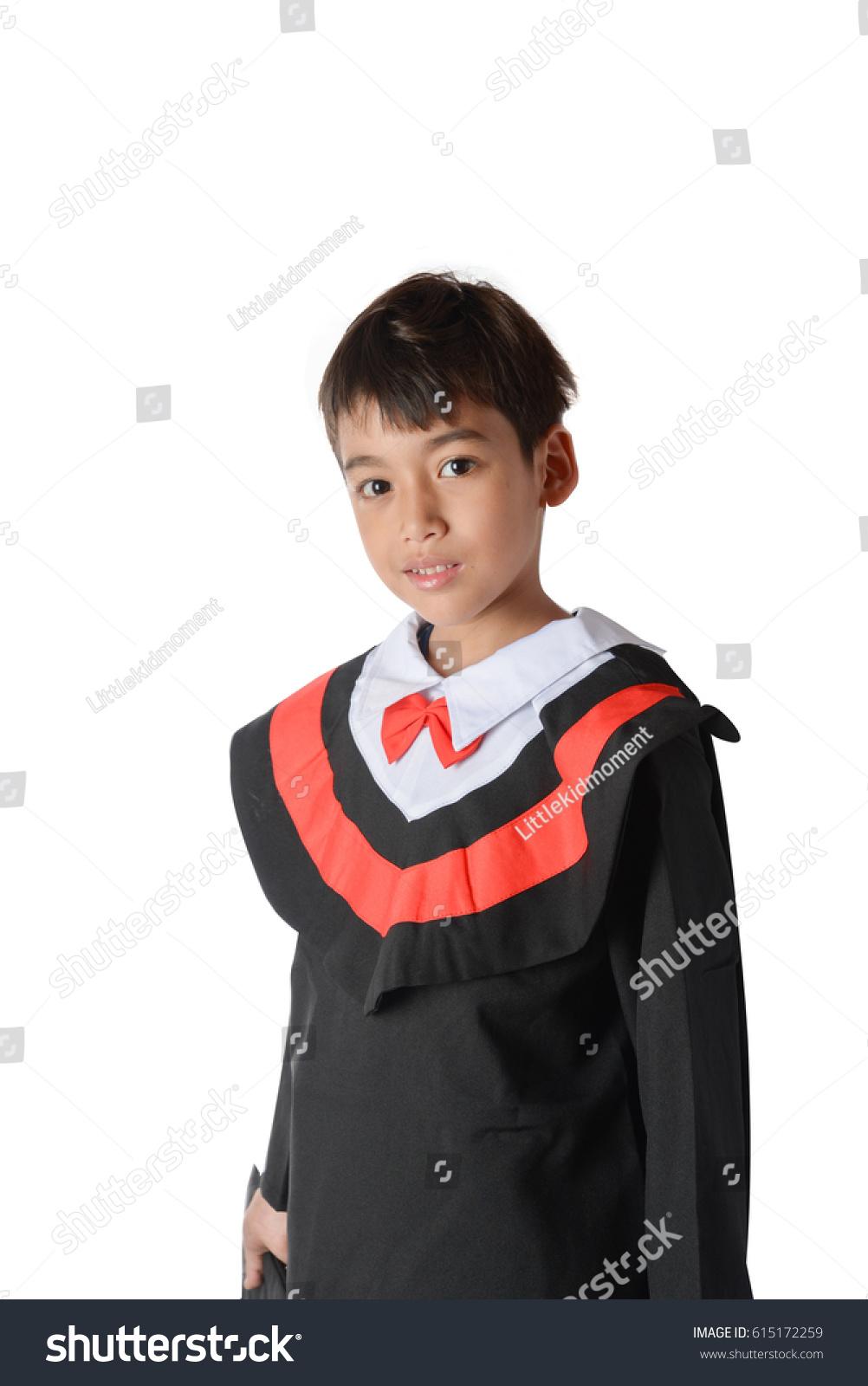 Boy Graduation Gown Bachelor Robe Cap Stock Photo (Edit Now ...