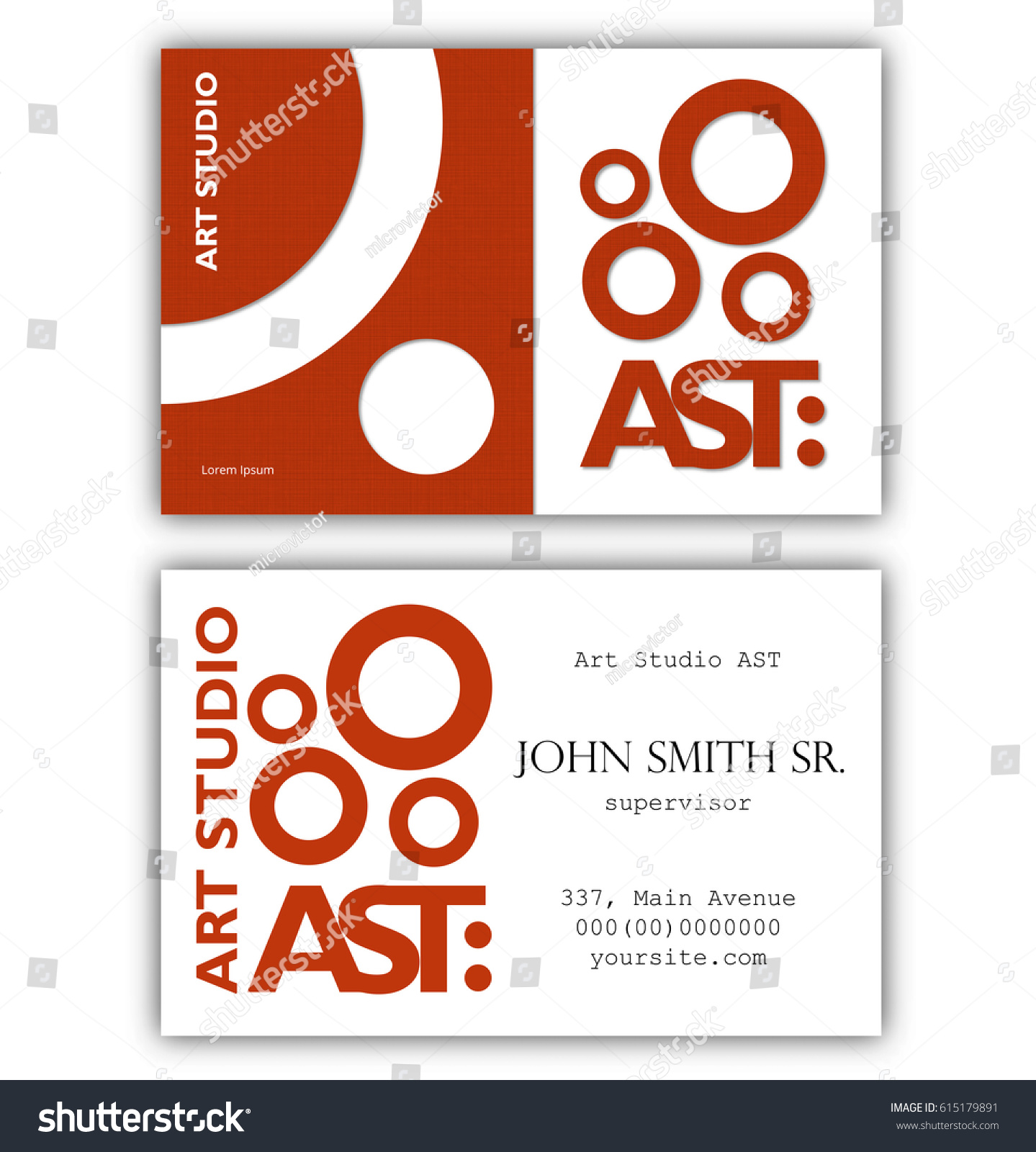 Abstract Business Card Template Art Studio Stock Vector - Business card template uk