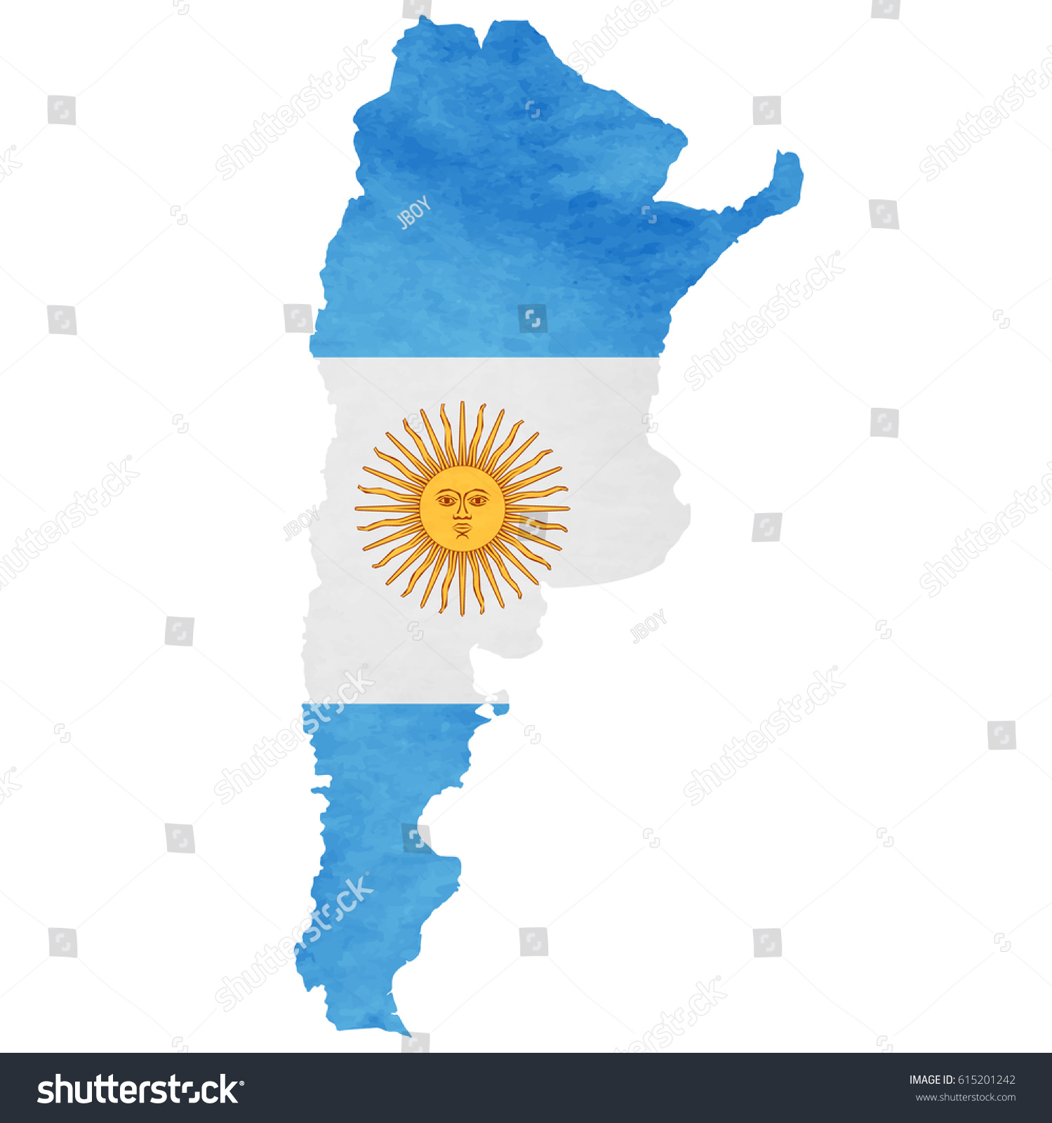 Argentina Map National Flag Icon Stock Vector Shutterstock - Argentina map vector free