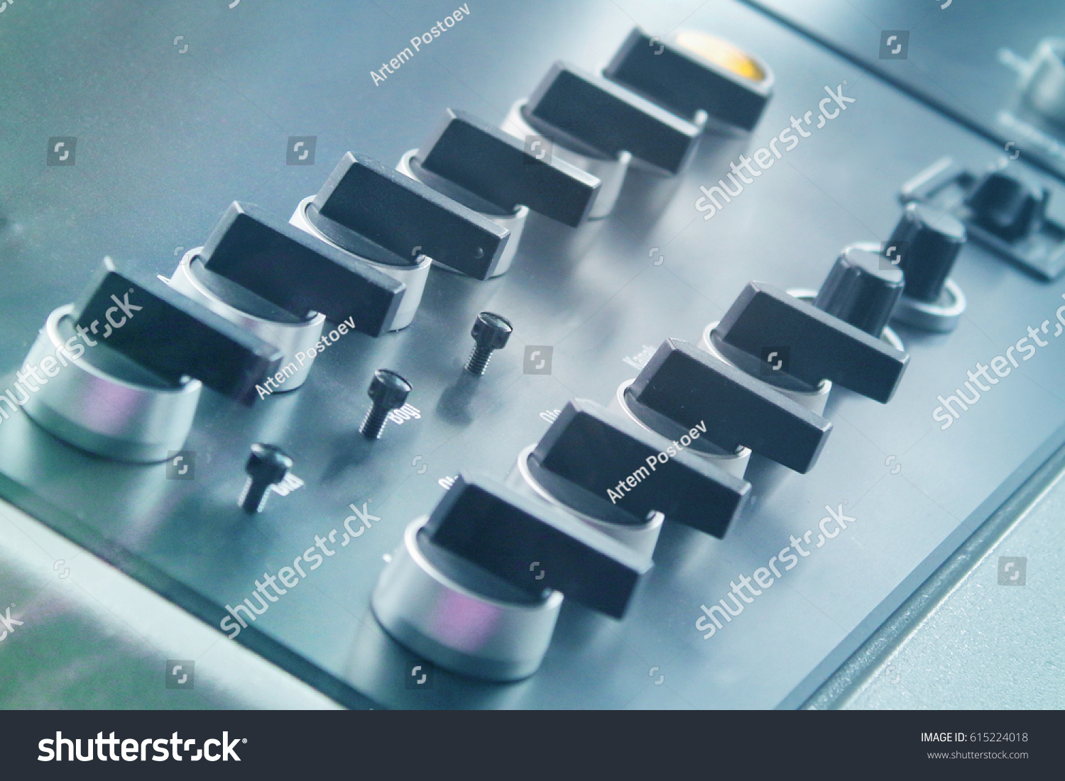 Control Panel Buttons Levers Equipment Machine Stock Photo (Royalty ...