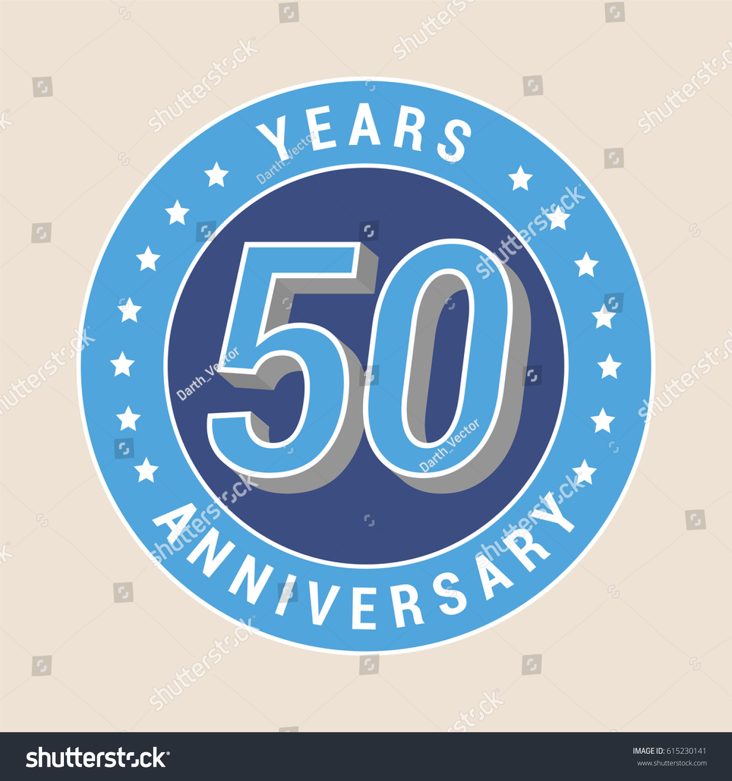 50 years anniversary vector icon emblem stock vector 615230141 50 years anniversary vector icon emblem design element with blue color medal as a buycottarizona Choice Image