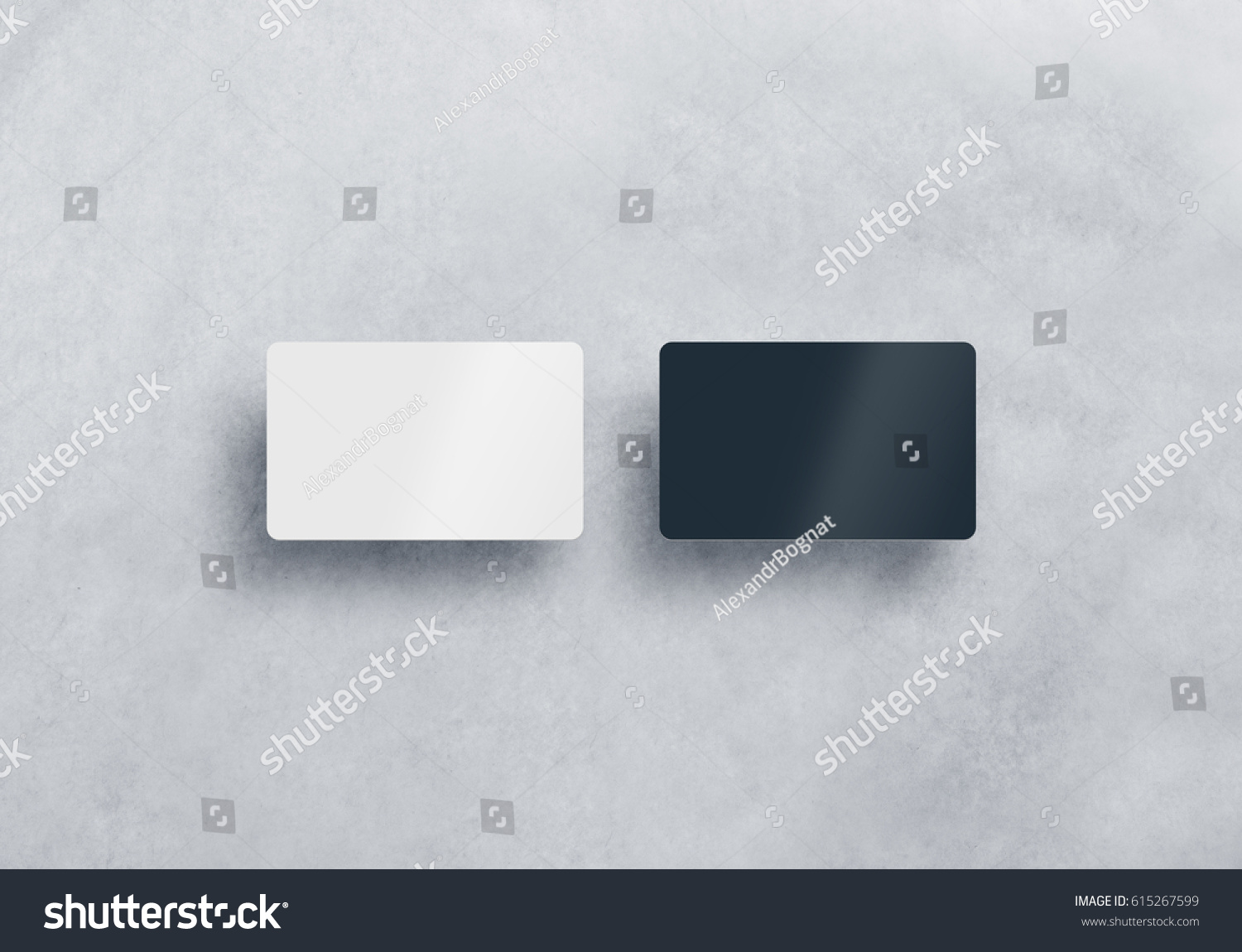 Two Blank Plastic Business Cards Mockups Stock Photo (Royalty Free ...