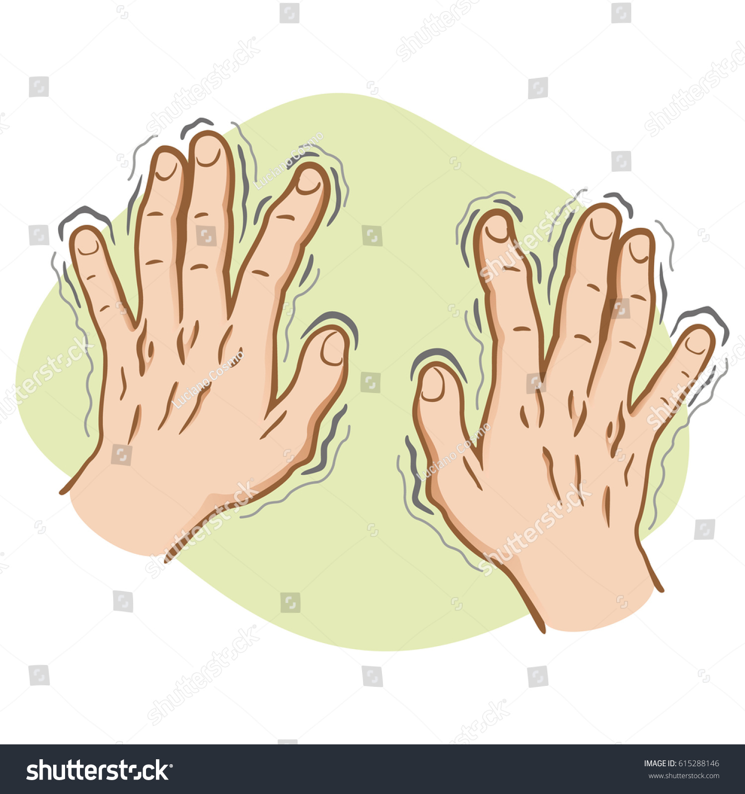Close Part Body Pair Hands Shaking Stock Vector Royalty Free