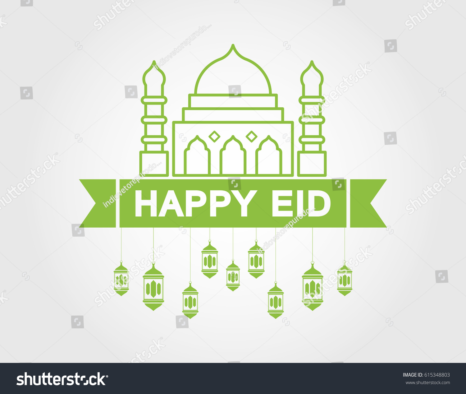 Happy eid greeting card stock illustration 615348803 shutterstock happy eid greeting card kristyandbryce Choice Image