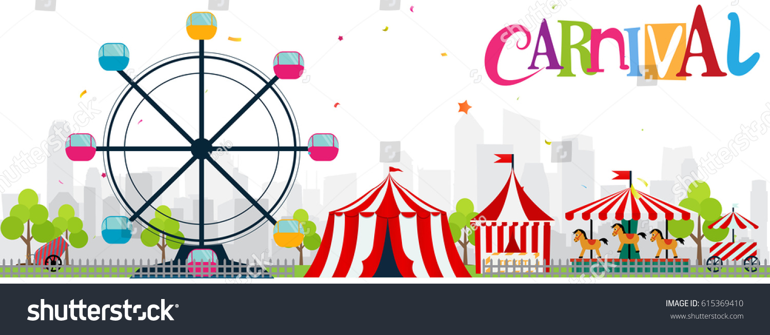 funfair carnival background stock vector royalty free 615369410