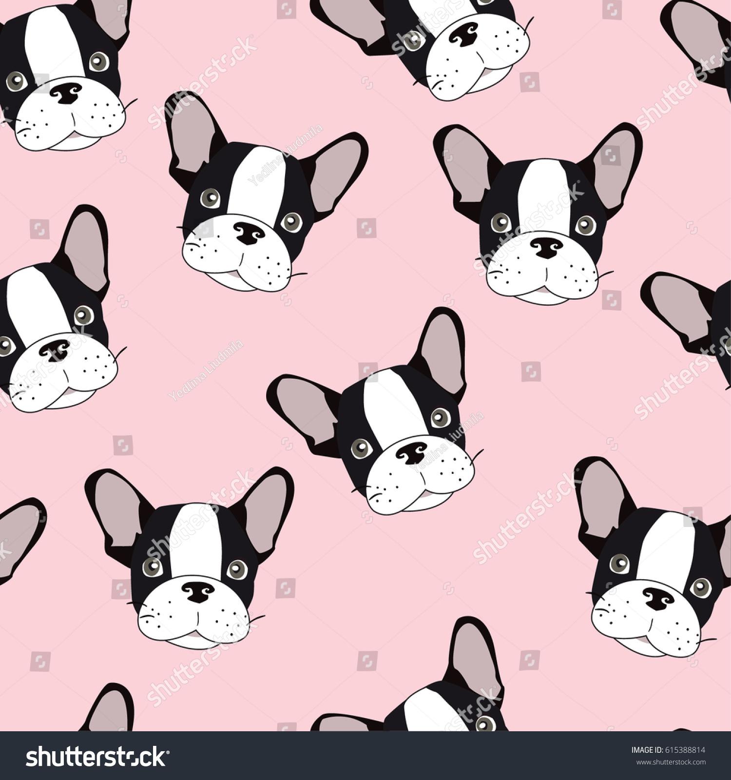 vector seamless pattern cute cartoon dog stock vector