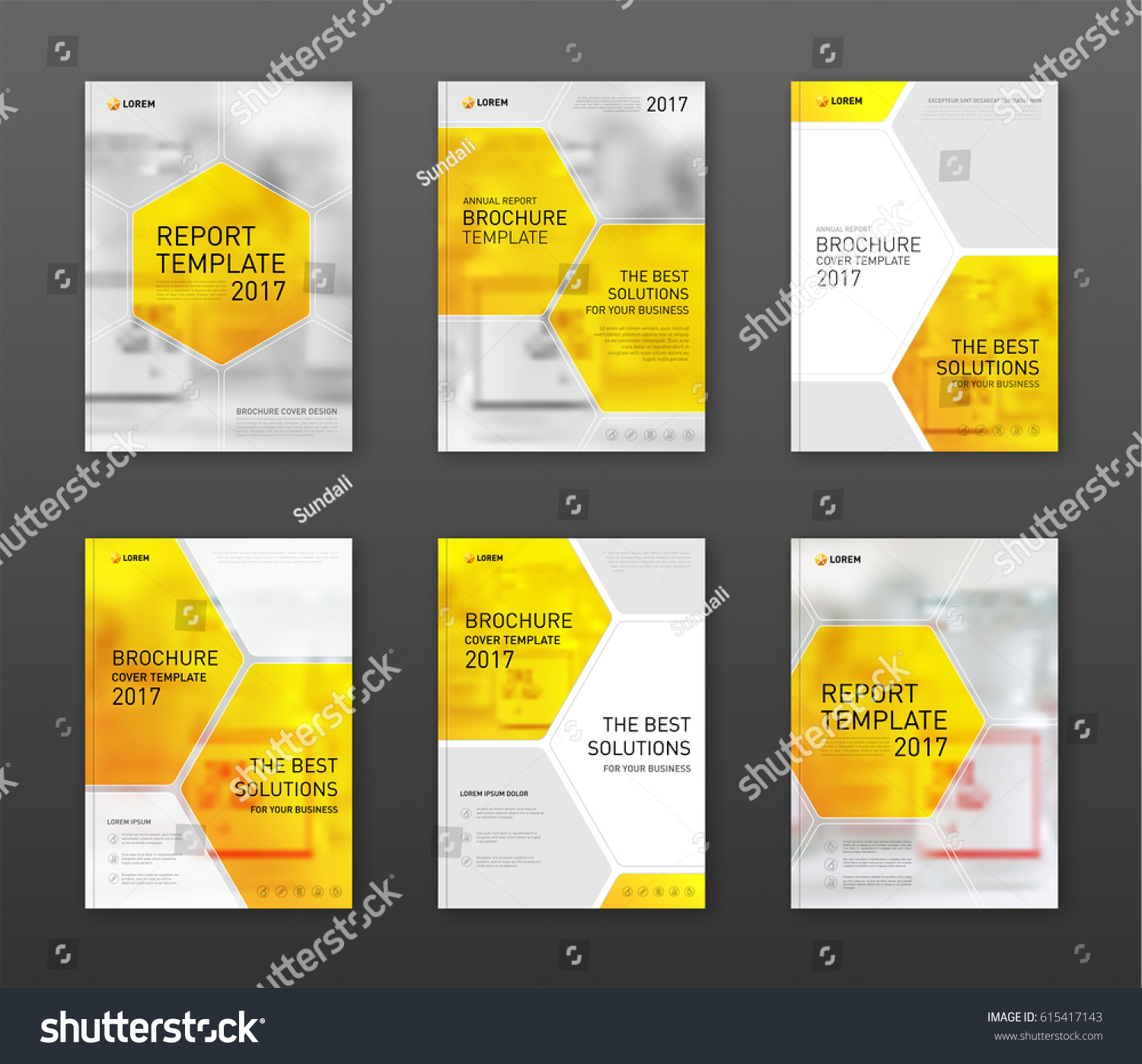 Pharmaceutical Brochure Cover Templates Set Applicable Stock Vector ...