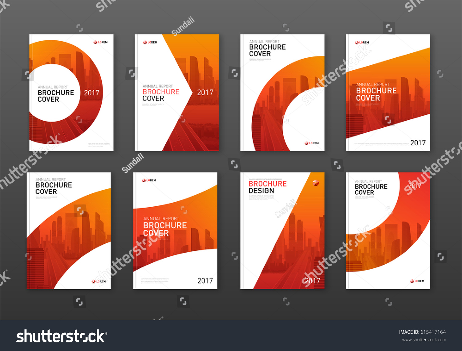 brochure cover design - brochure cover design layout set business stock vector