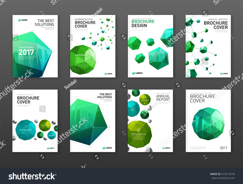 Corporate Brochure Cover Design Templates Set Stock Vector Royalty