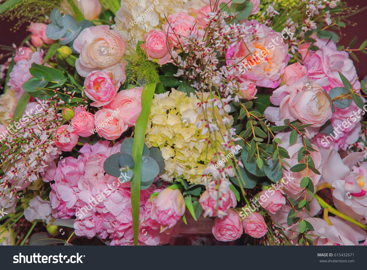 Chic bouquet different flowers close stock photo 615432671 chic bouquet of different flowers close up izmirmasajfo Gallery