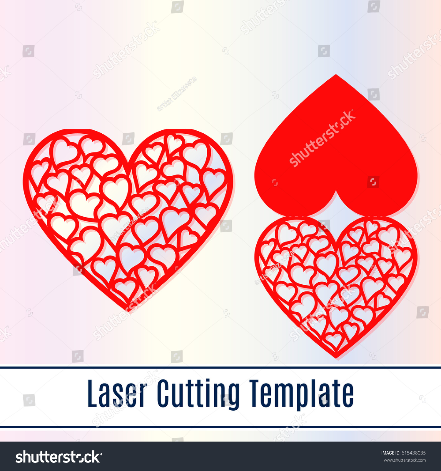 Laser cut mothers day card hearts stock vector royalty free laser cut mothers day card with hearts laser cutting template for diy greeting cards m4hsunfo
