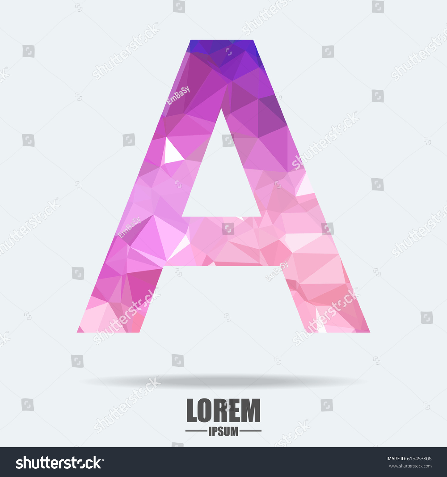 Abstract Trend Polygon Letter Logo Design Stock Vector (Royalty Free ...