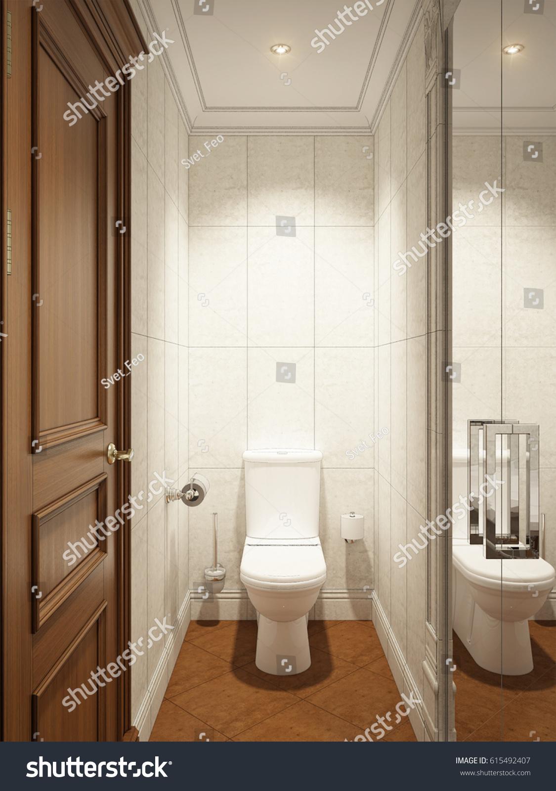 Classic Modern Bathroom WC Interior Design Stock Illustration ...