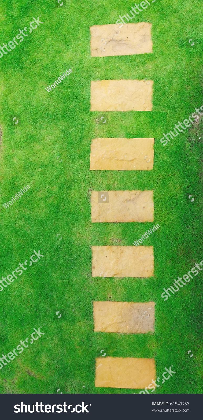 Top View Garden Pathway Stock Photo 61549753