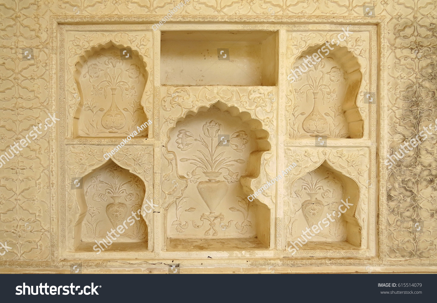Nichedecorated Wall One Parts Ancient Palace Stock Photo (Royalty ...