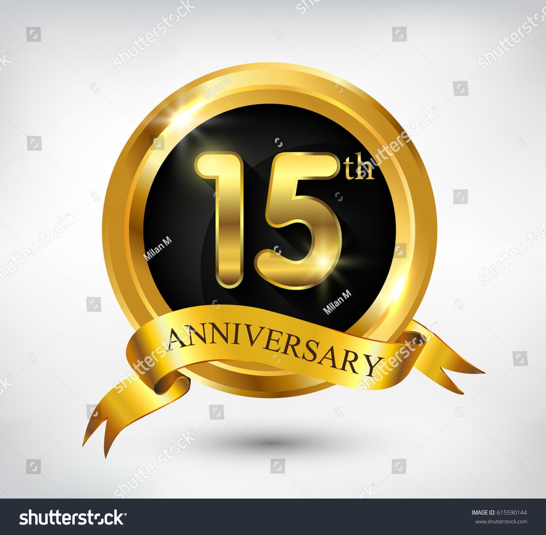 15 years anniversary celebration design15th anniversary stock 15 years anniversary celebration design15th anniversary golden logoctor illustration biocorpaavc