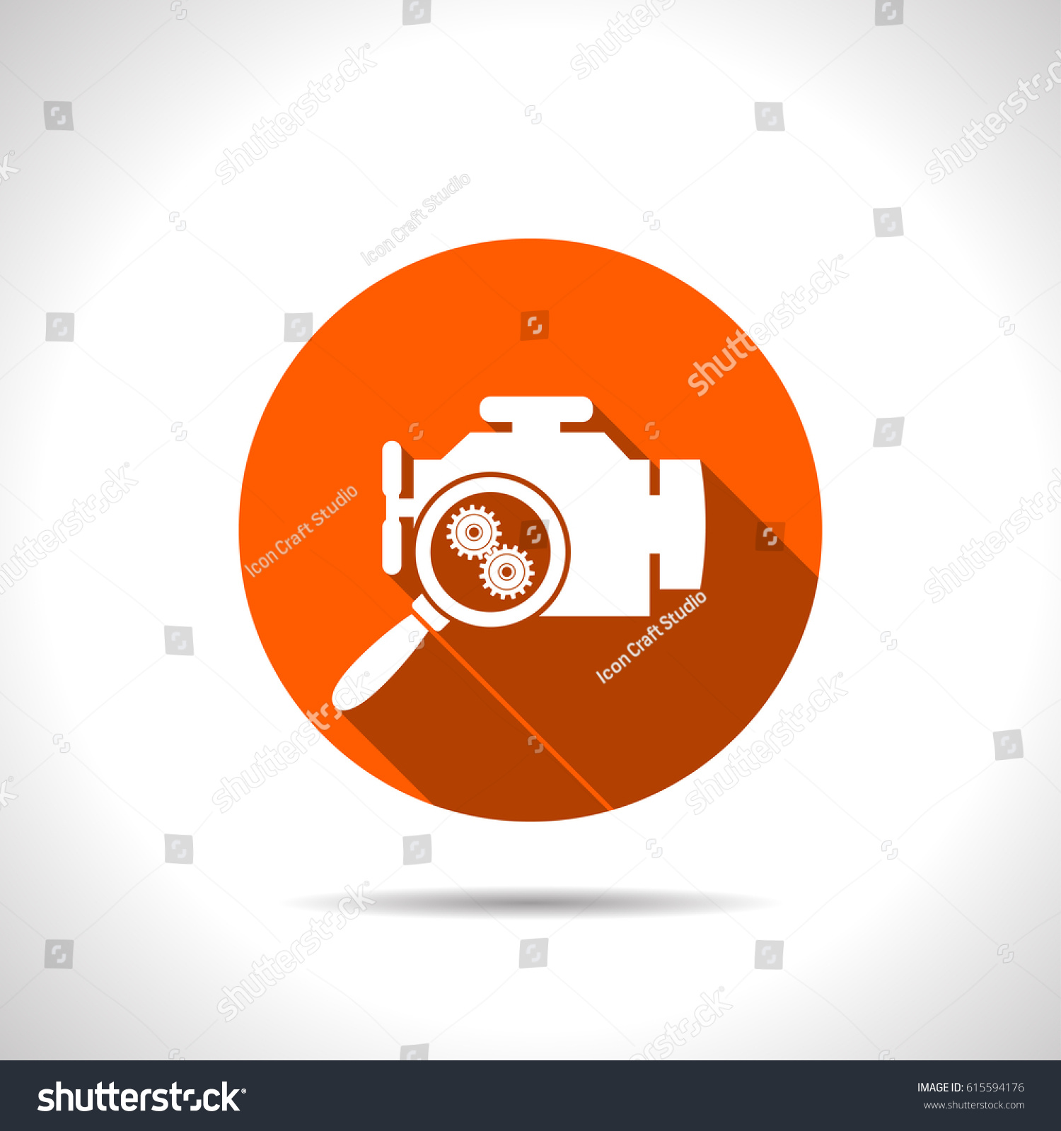 Car engine diagnostic repair flat icon stock vector 615594176 car engine diagnostic repair flat icon vector illustration biocorpaavc Gallery