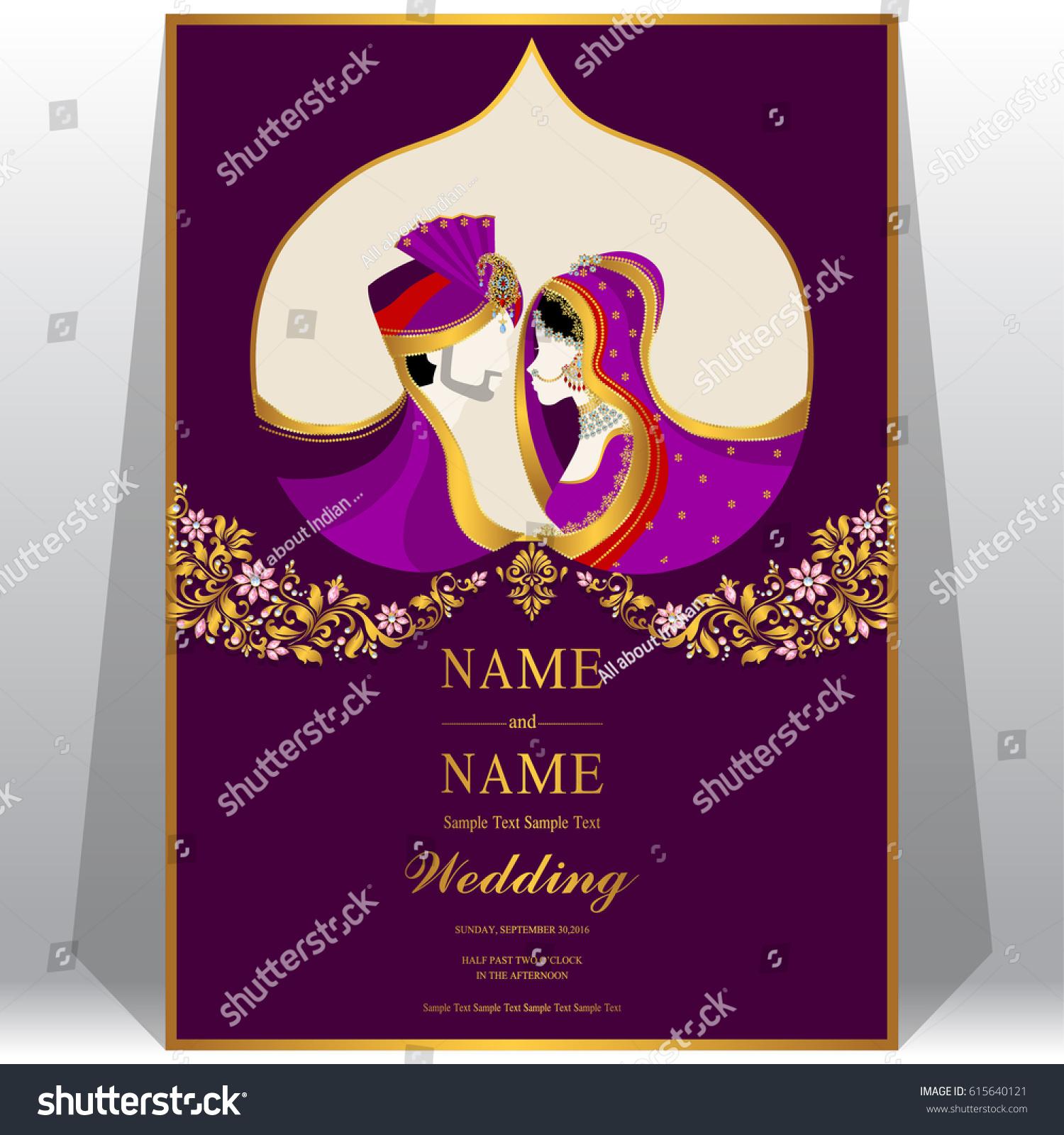 Wedding Invitation Card Templates Indian Man Stock Vector 615640121 ...