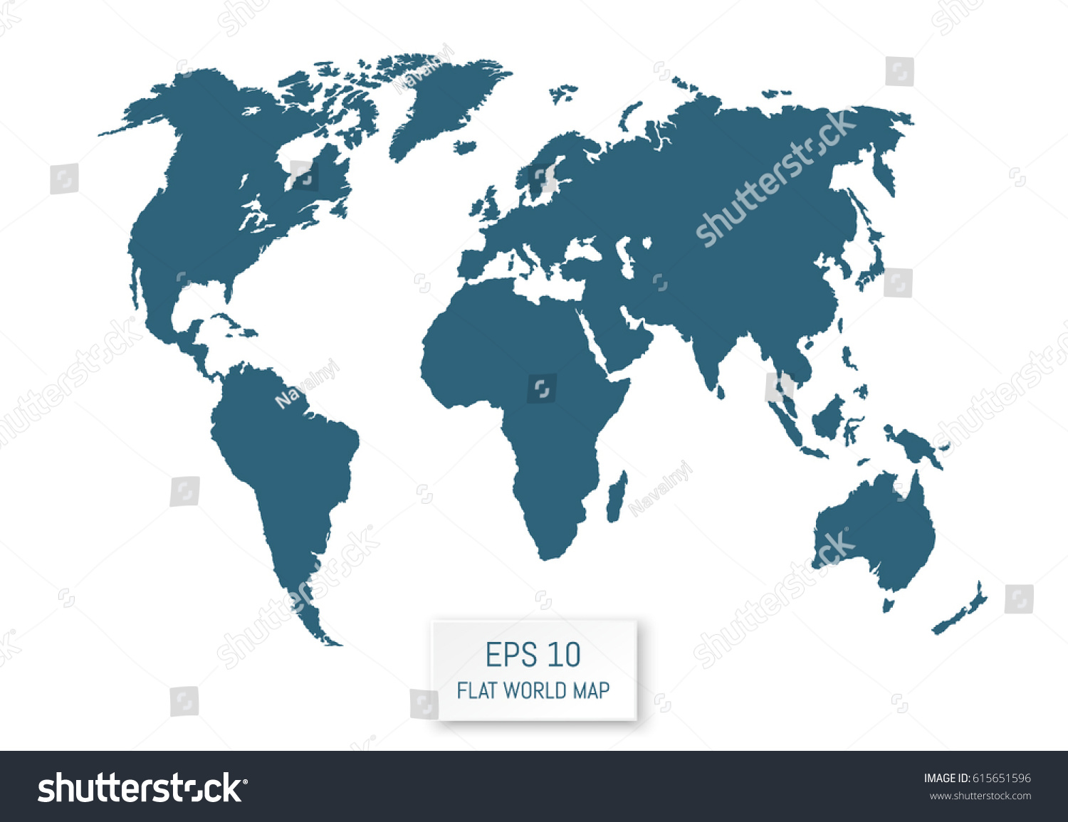 Flat world map silhouettes on white stock vector hd royalty free flat world map silhouettes on white background template for your design works vector gumiabroncs Choice Image