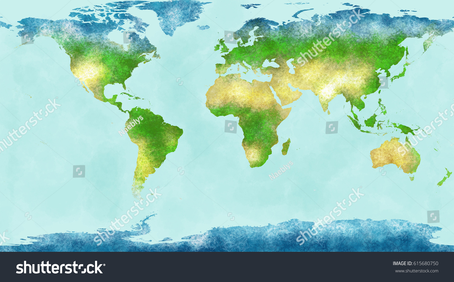 Highly Detailed Physical Map Of The World In Vector Format With All