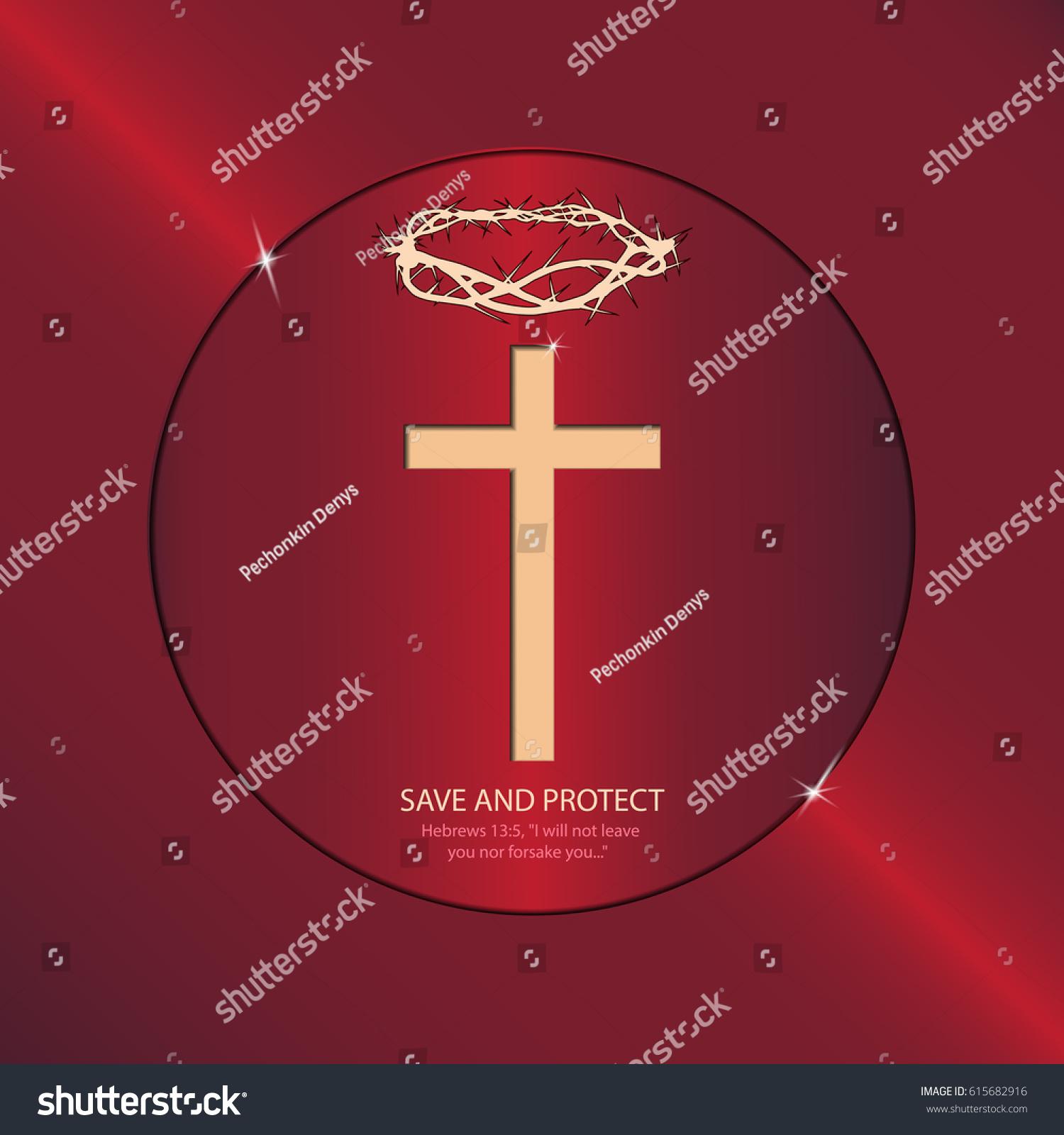 Religious Symbols Speak Us About Sacrifice Stock Illustration