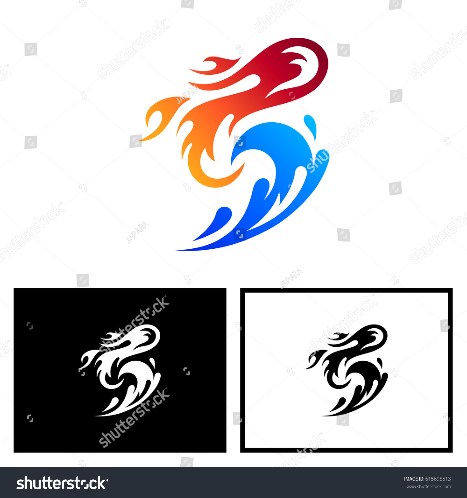 Letter s logo fire water stock vector 615695513 shutterstock letter s logo with fire and water biocorpaavc Choice Image