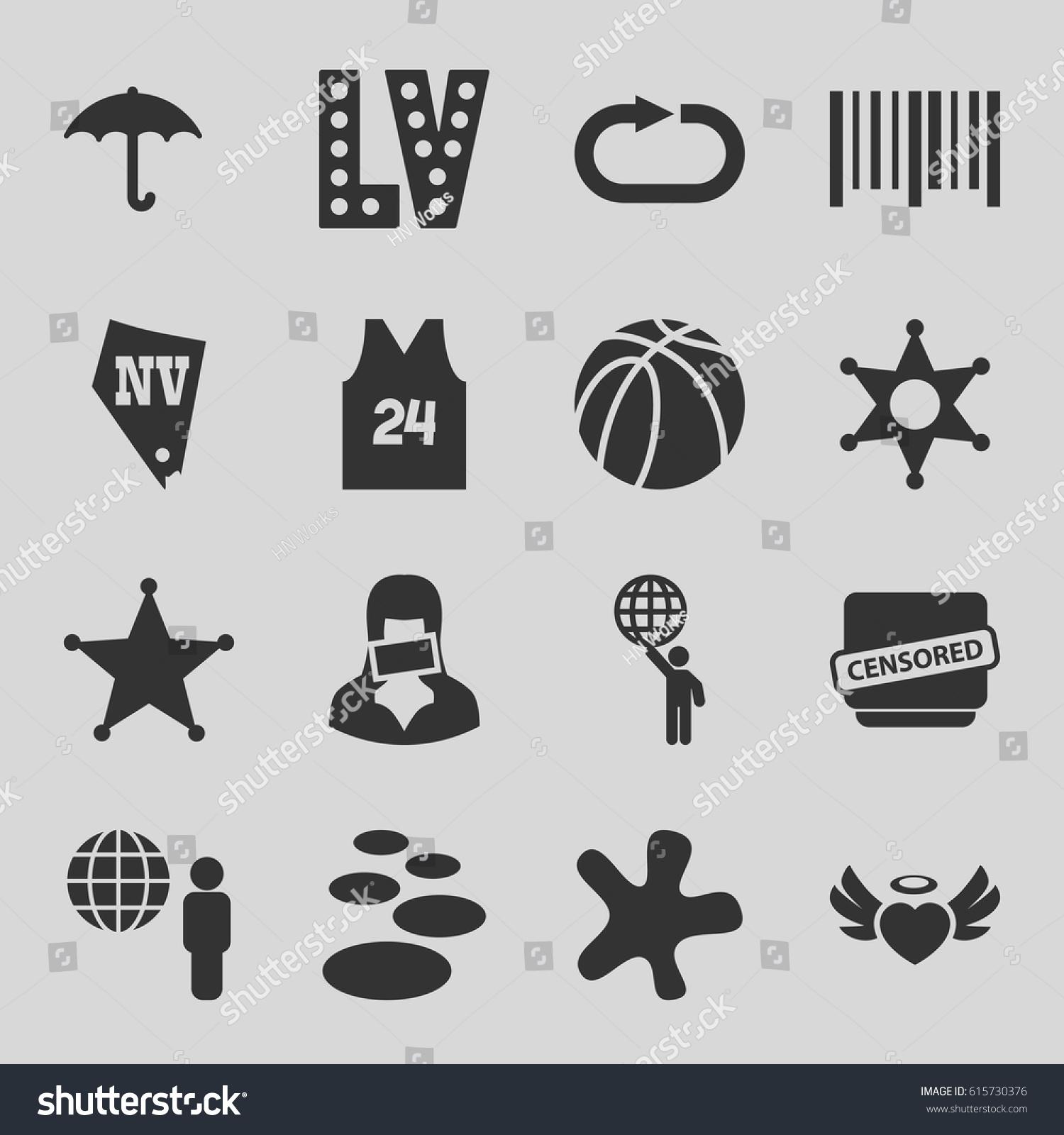 Grunge icons set set 16 grunge stock vector 615730376 shutterstock grunge icons set set of 16 grunge filled icons such as vegas splash buycottarizona Choice Image