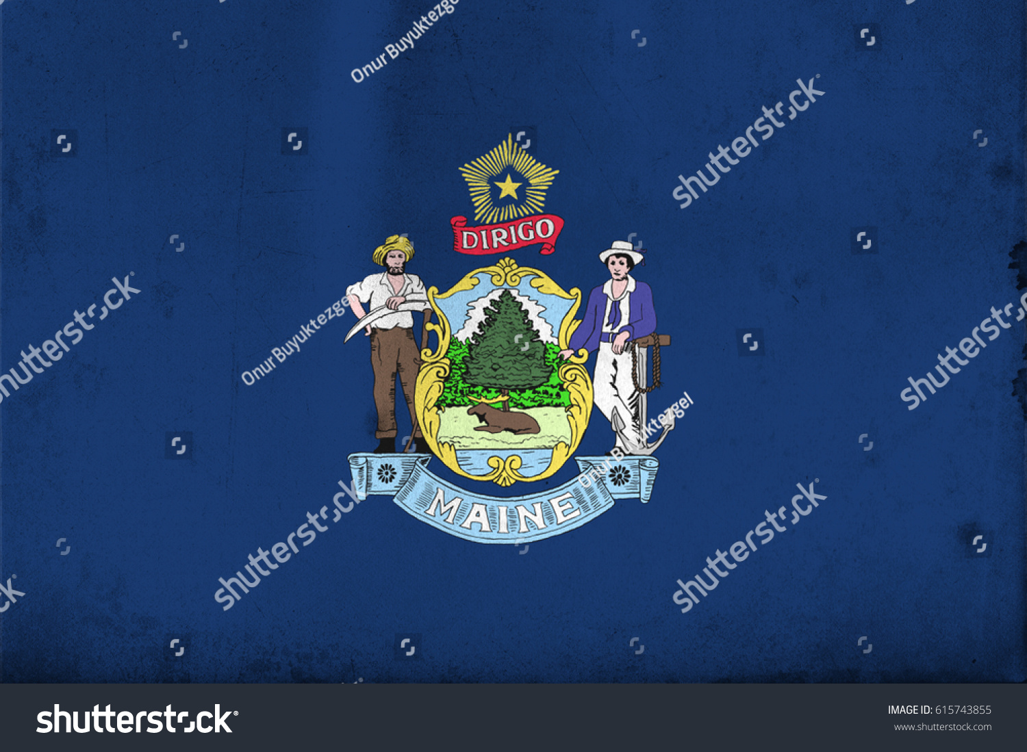 Flag Maine United States America Old Stock Illustration - How old is the united states of america