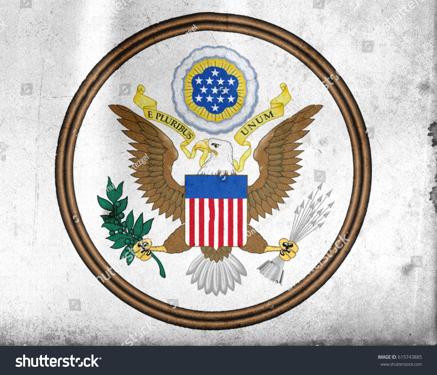Great Seal United States America Old Stock Illustration - How old is the united states of america