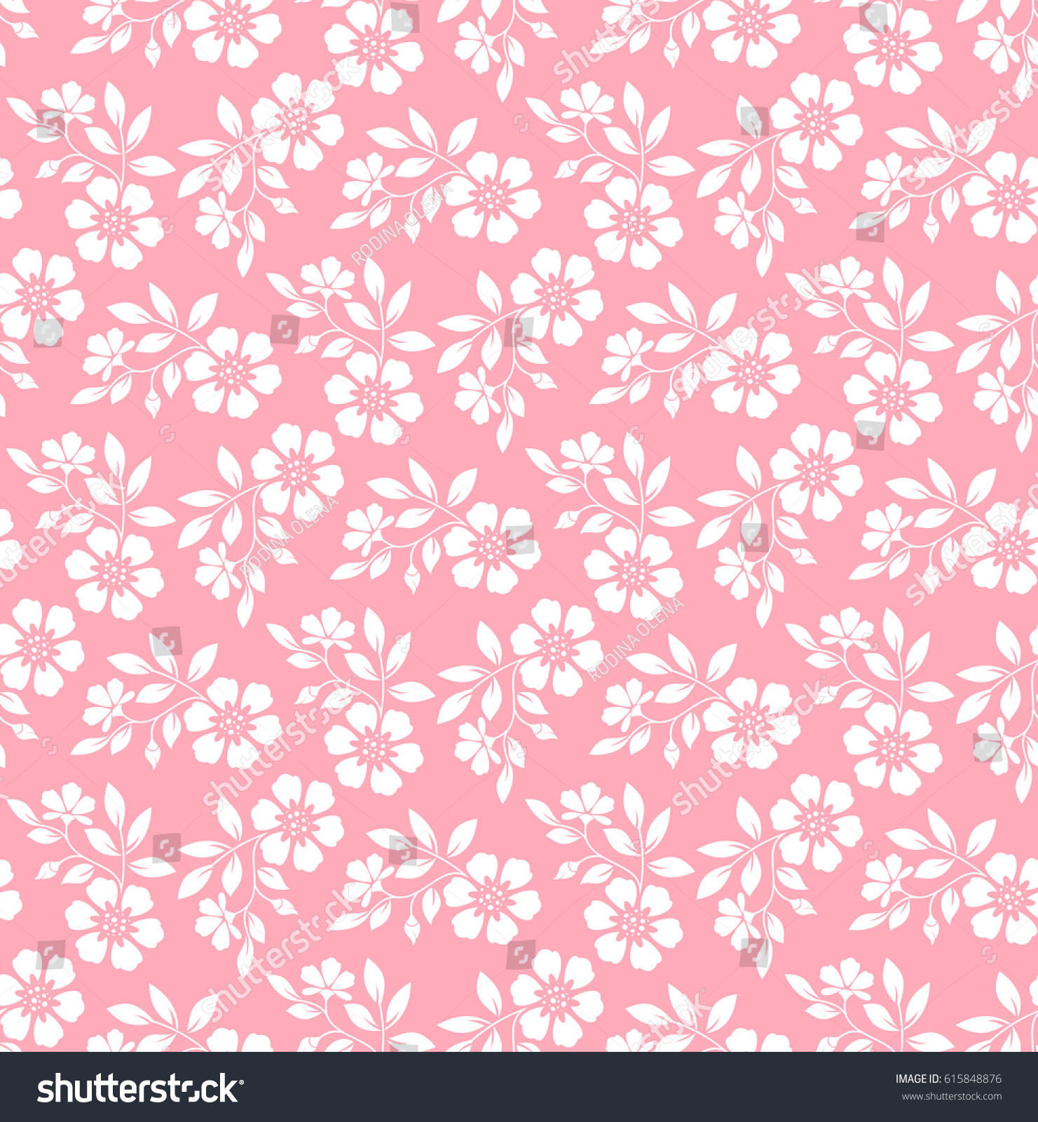 Damask Seamless Floral Pattern Royal Wallpaper White Flowers On A