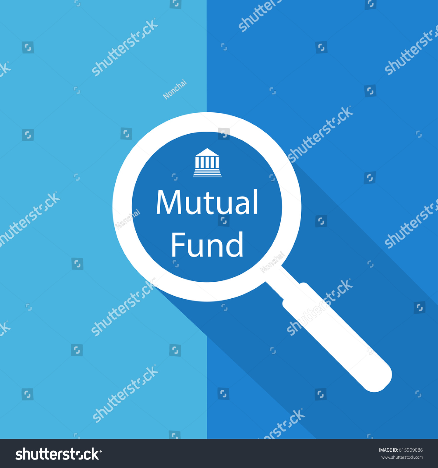 Search find mutual fund symbol icon stock vector 615909086 search or find mutual fund symbol icon sign with long shadow biocorpaavc Images