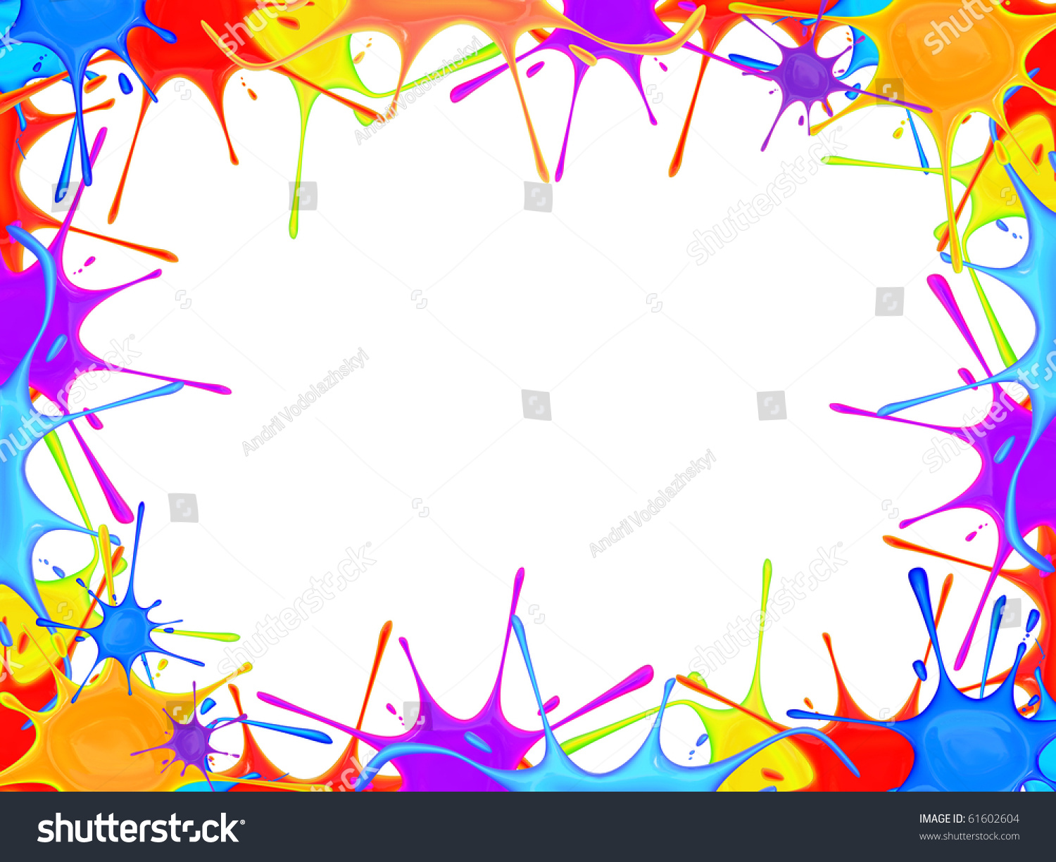 Frame Made Paint Blot Stock Illustration 61602604 - Shutterstock
