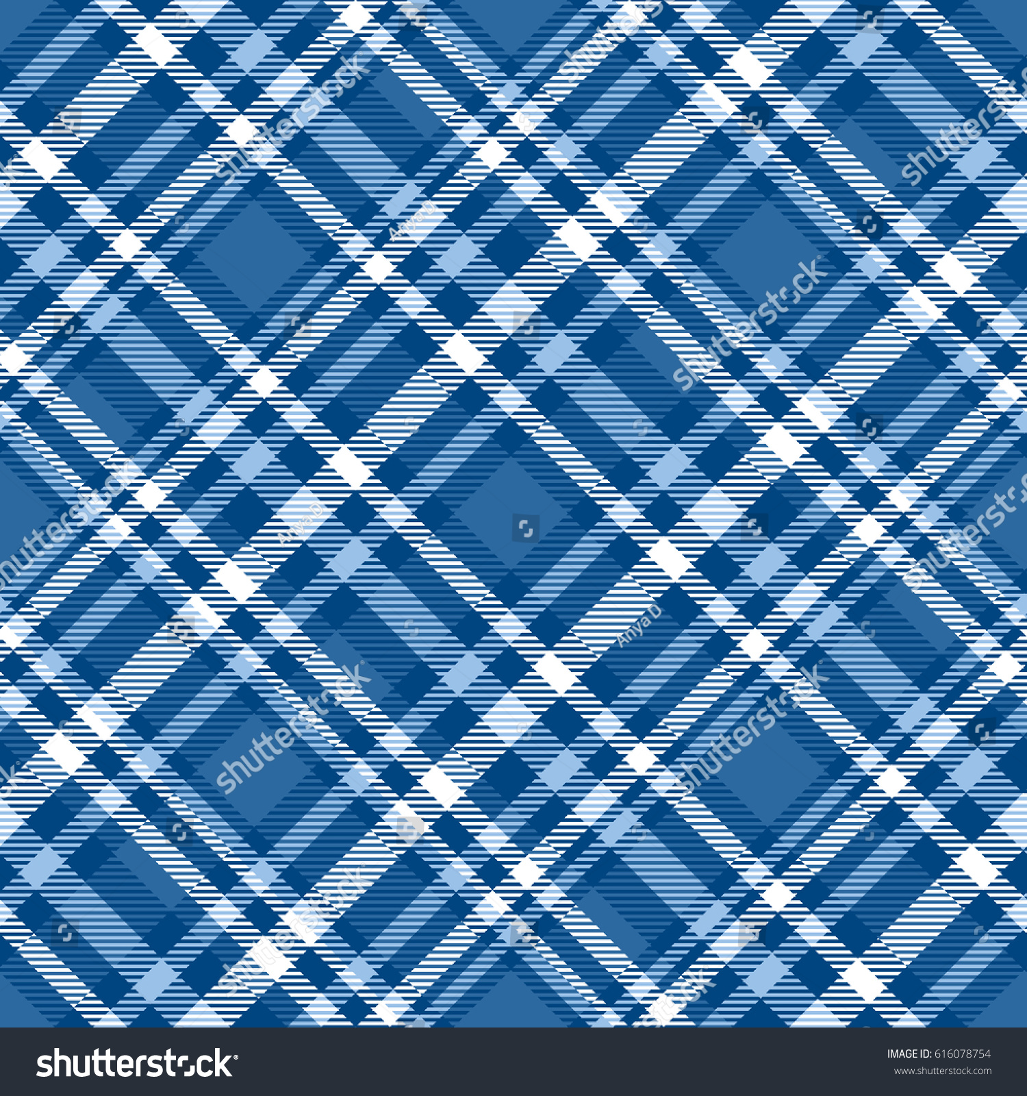 Seamless Tartan Plaid Pattern Checkered Fabric Stock