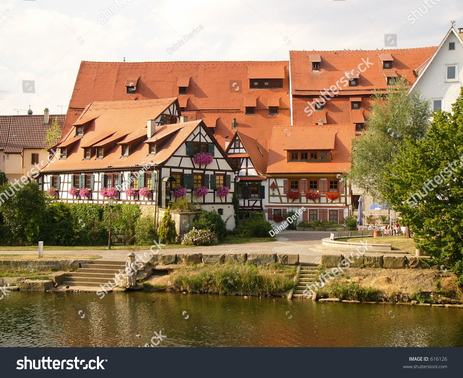 Old German Homes In Rottenburg Stock Photo 616126