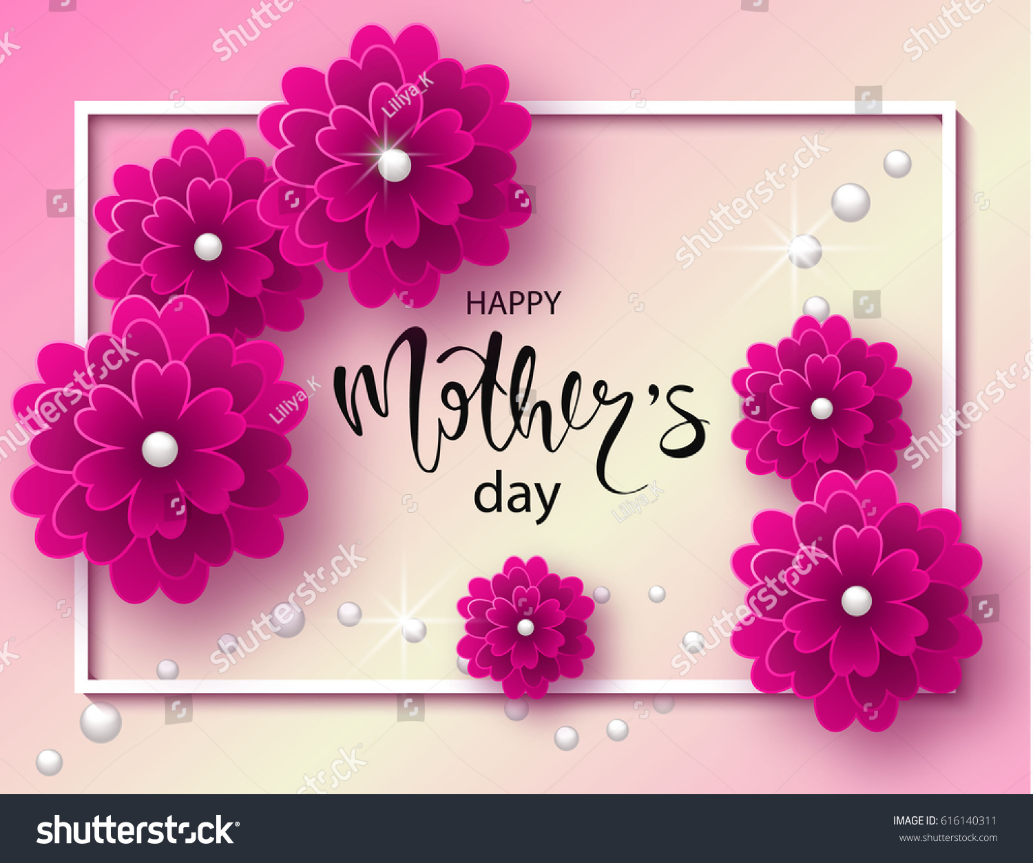 Creative Floral Flyer Of Happy Mothers Day Template For: Happy Mothers Day Background Beautiful Flowers Stock
