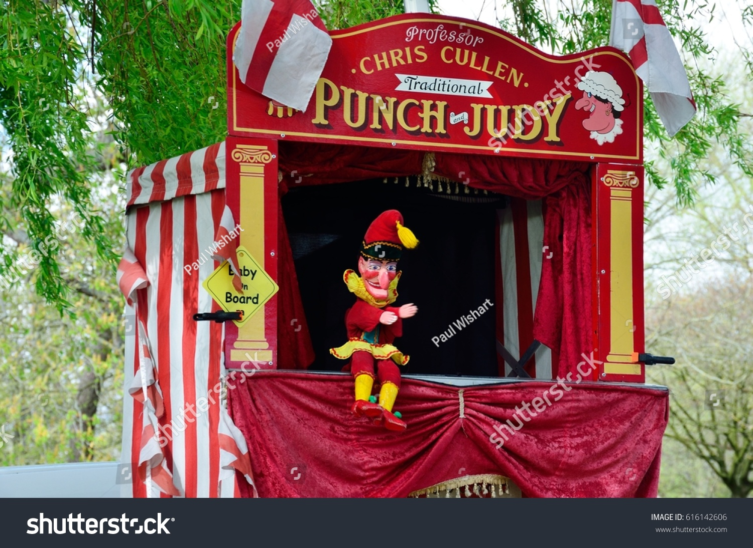 Colchester United Kingdom -1 April 2017 Traditional Punch and Judy booth with Mr Punch & Colchester United Kingdom 1 April 2017 Stock Photo 616142606 ...