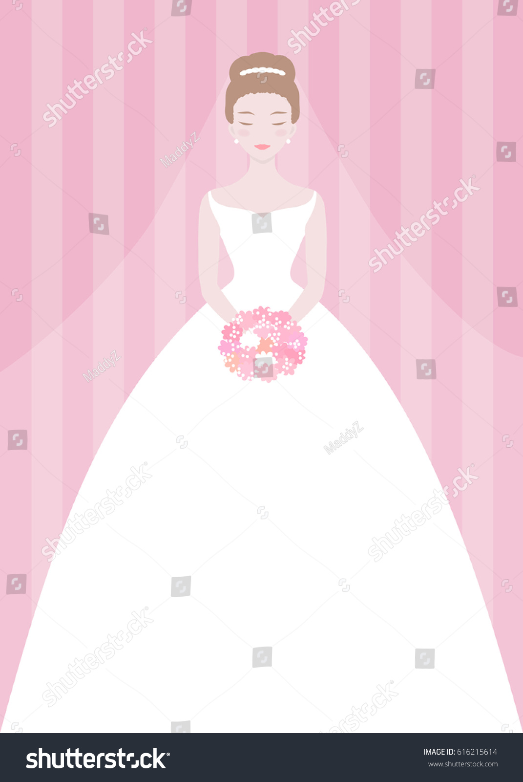 Bridal Shower Invitation Template Wedding Fashion Stock Vector ...