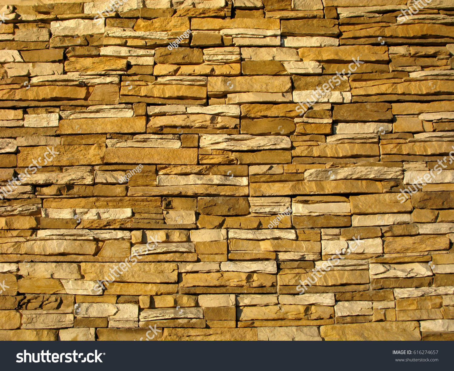 Wall Made Artificial Stone Modern Design Stock Photo & Image ...