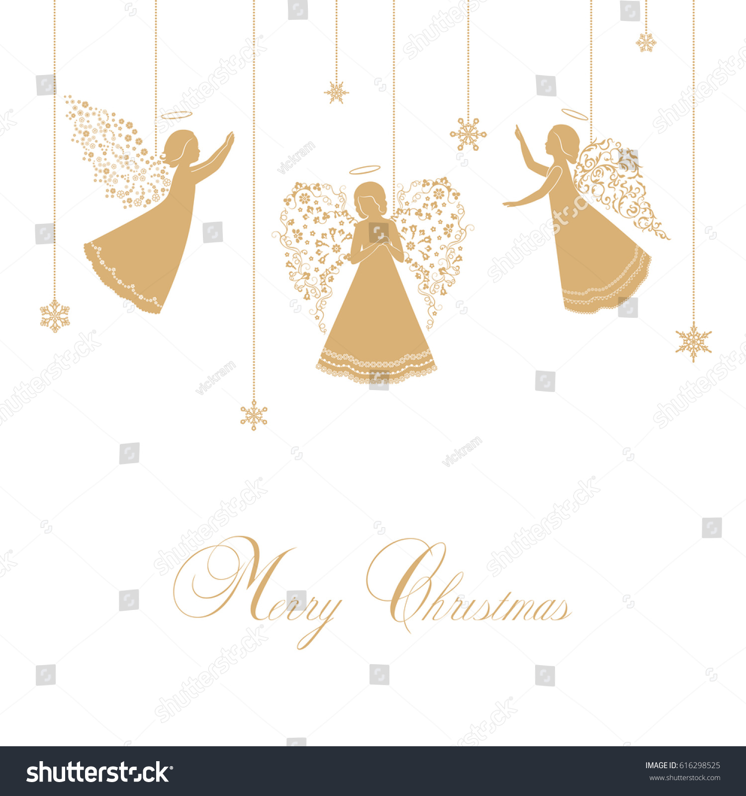 angels simple wings on white background stock vector 616298525