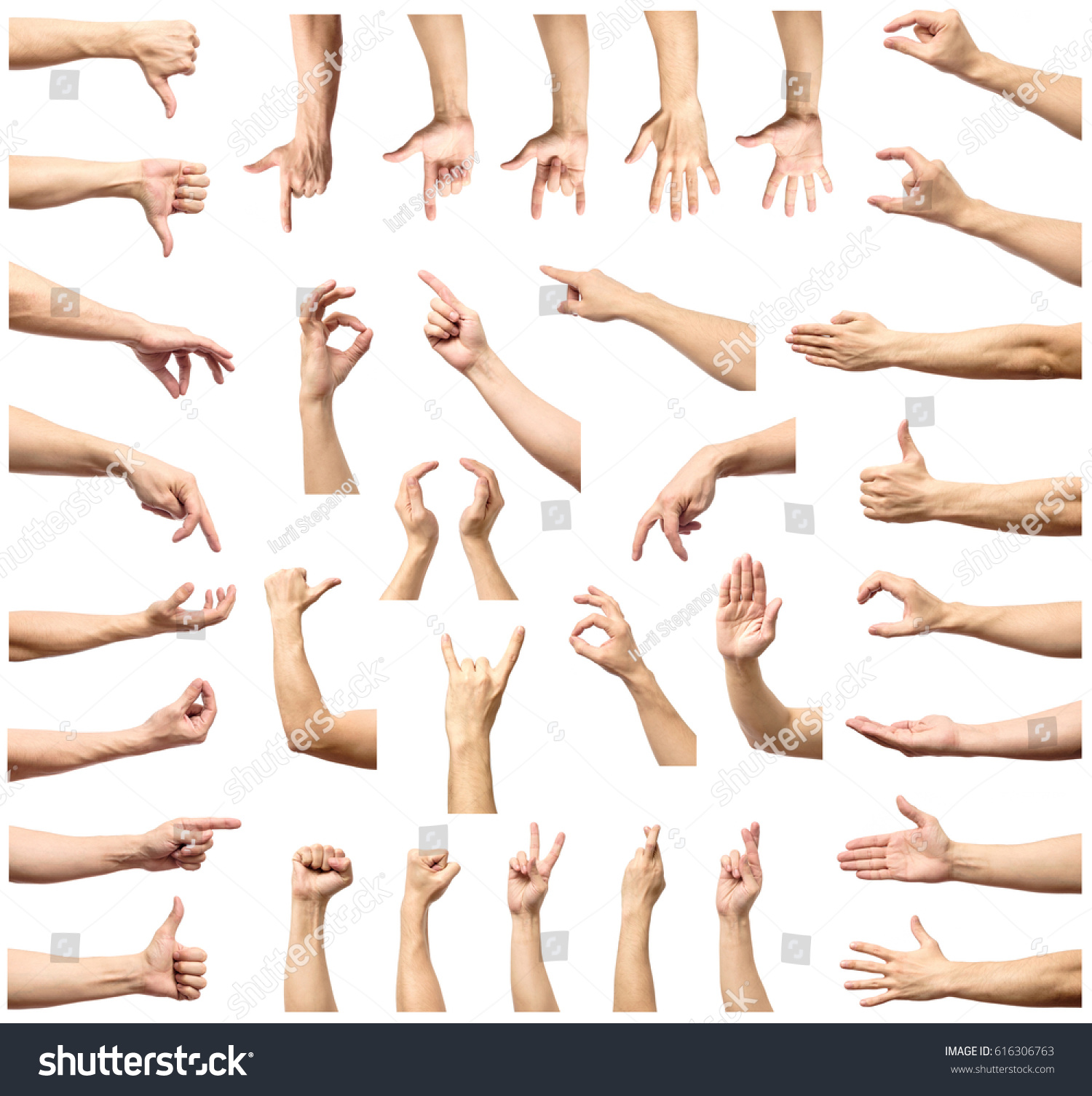 Z index multiple background images - Male Hand Gesture And Sign Collection Isolated Over White Background Set Of Multiple Pictures