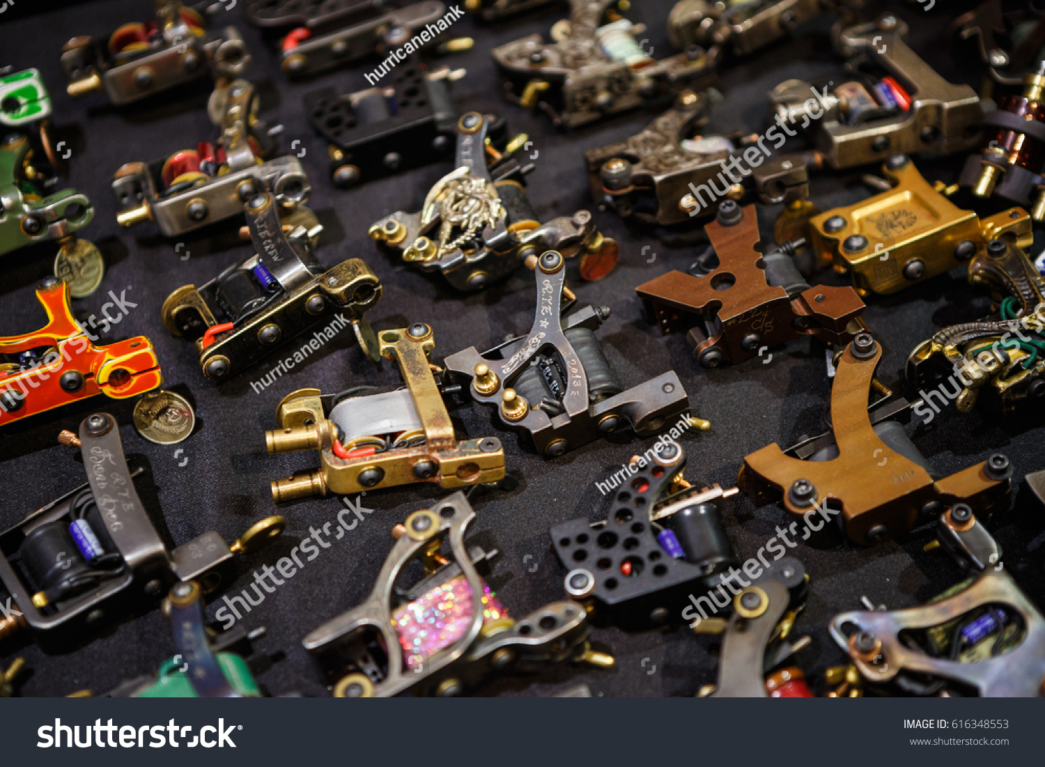 MOSCOW 1 APRIL 2017 Buy New Professional Tattoo Machines Stock Photo ...